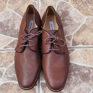 Men's brown leather Steve Madden shoes sz12